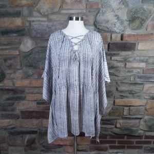 Lane Bryant lace up criss cross kimono top 26/28